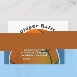 Basketball Baby Shower Diaper Raffle Ticket Enclosure Card