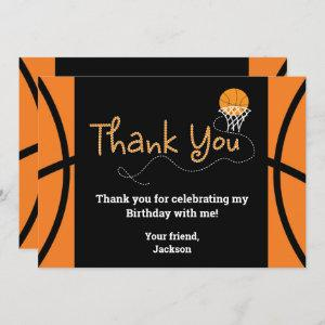Basketball Birthday Party Typography Thank You