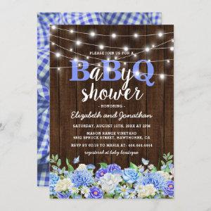 BBQ Baby Couples Shower | Boy BaByQ Barbecue Invitation
