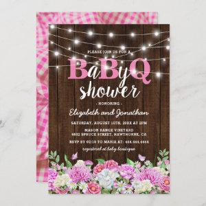 BBQ Baby Couples Shower | Girl BaByQ Barbecue Invitation