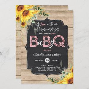 BBQ Baby Shower Sunflower Baby Q Couples Shower Invitation