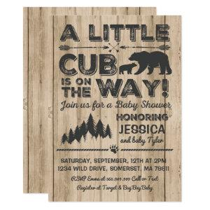 Bear Baby Shower Invitation Adventure Baby Shower