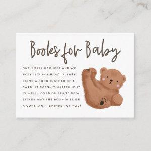 Bear Theme Baby Shower Book Request Enclosure Card