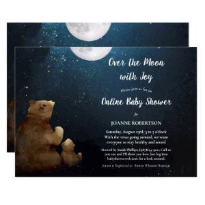 Bears Over The Moon Online Baby Shower Invitation