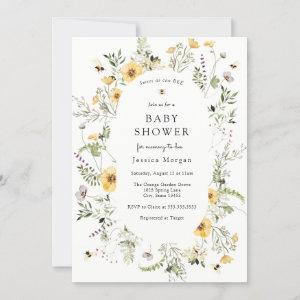 Bee and Delicate Wildflower Baby Shower