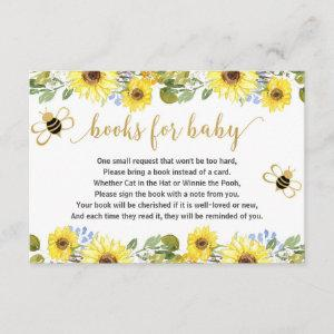 Bee baby shower book request inserts boy baby