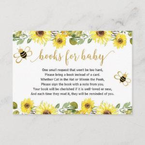 Bee baby shower book request inserts girl baby