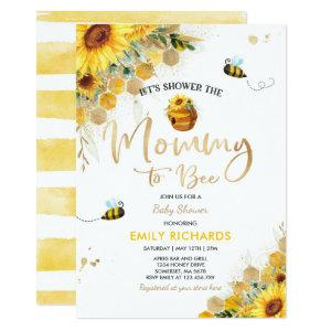 Bee Baby Shower Gender Neutral Mommy To Bee Invitation
