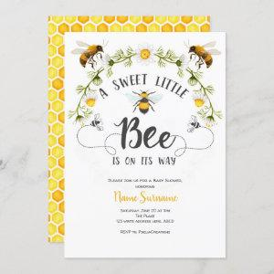 Bee baby shower invitation, A sweet little bee Invitation