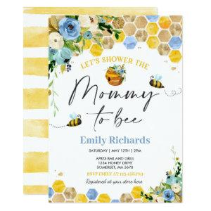 Bee Baby Shower Invitation Floral Mommy To Bee