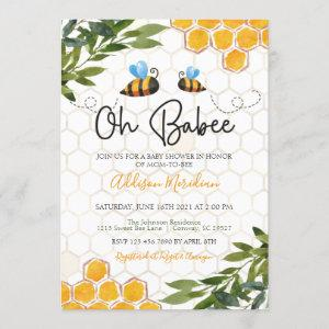 Bee Baby Shower , Oh Honey Babee Neutral