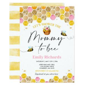 Bee Baby Shower Invitation Pink Mommy To Bee