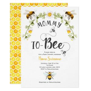 Bee Baby Shower, Mommy to-be Invitation