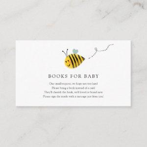 Bee Books for Baby insert card
