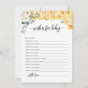 Bee wishes for baby card