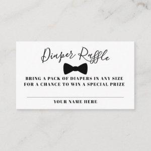 Black Bow Tie Diaper Raffle Ticket Enclosure Card