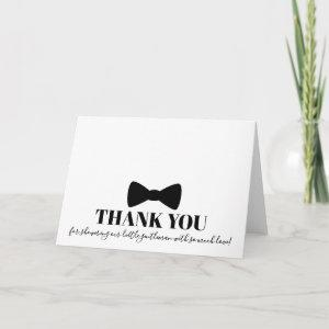 Black Bowtie Baby Shower Thank You Card