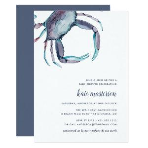 Blue Crab Baby Shower Invitation