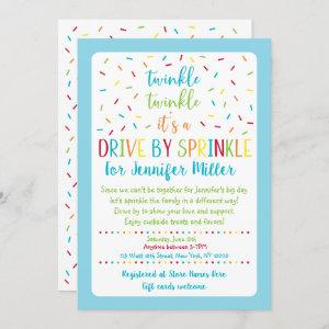 Blue Drive By Baby Sprinkle Invitation