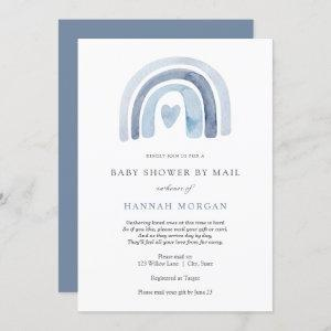 Blue Rainbow Baby Shower by Mail invitation
