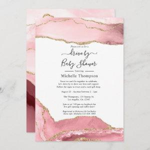 Blush and Gold Agate Drive By Shower