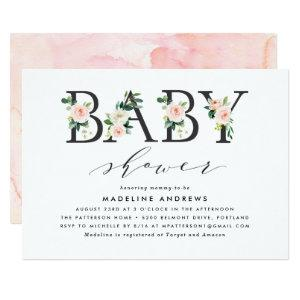 Blush Florals | Baby Shower Invitation