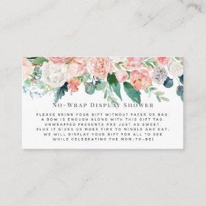 Blush Florals Display Shower Invitation Insert