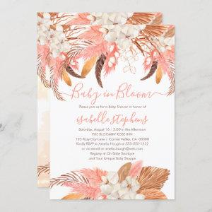 Boho Baby in Bloom Pink Pampas Grass Baby Shower I