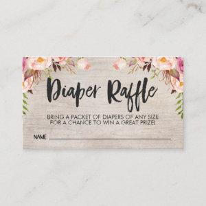 Boho Diaper Raffle Card Insert Business Card Size