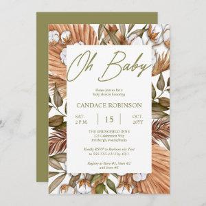 Boho Floral Cotton | Dried Grasses Baby Shower