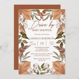 Boho Floral Cotton | Grasses Drive by Baby Shower
