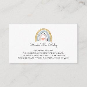 Boho Watercolor Rainbow Books For Baby Enclosure Card