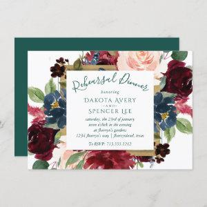 Bold Floral   Botanical Watercolor Rehearsal Party