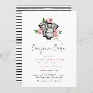 Bonjour Bebe Paris French Pink Flowers Baby Shower