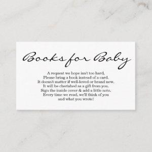Book Request for Baby Shower Invitation - Simple