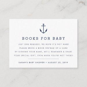 Book Request | Nautical Baby Shower Insert Card