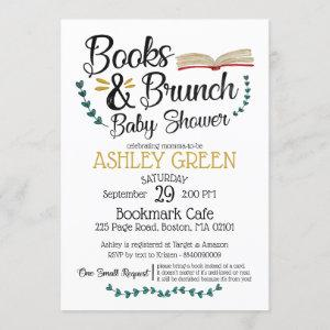 Books and Brunch Baby Shower Invitation