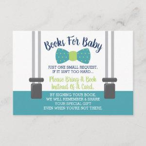 Books for Baby, Bow Tie Baby Shower Enclosure Card
