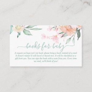 Books for Baby Floral Wreath Oh Baby Enclosure Card