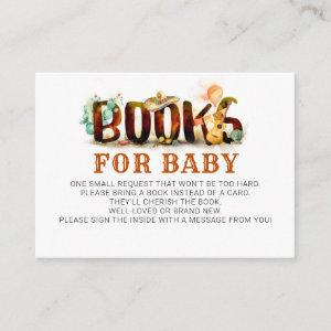 Books For Baby Mexican Style Baby Shower Enclosure Card