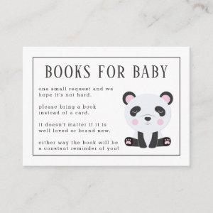 Books for Baby Panda Baby Shower Enclosure Card