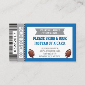 Books For Baby, Sports, Football Baby Shower Enclosure Card
