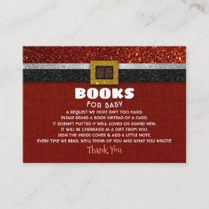 Books For Santa Baby Shower Request Enclosure Card