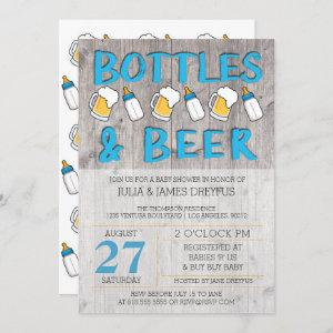 Bottles and Beer Baby Shower Invitation