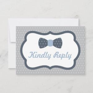 Bow Tie RSVP Card, Reply Card