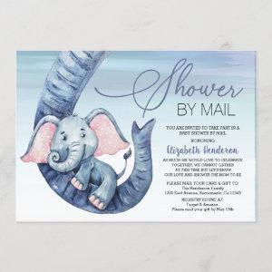 Boy Baby Shower By Mail Invitation