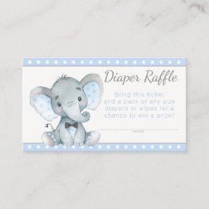 Boy Elephant Diaper Raffle Tickets Enclosure Card
