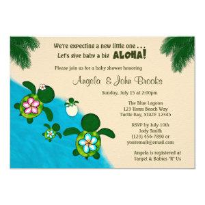 BOY Sea TURTLE Baby Shower Family BLUE Honu 284 Invitation