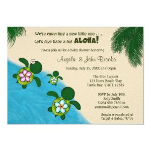 BOY Sea TURTLE Baby Shower Invite BLUE (Honu) 281