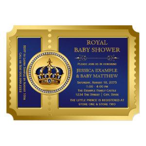 Boys Royal Baby Shower Invitation